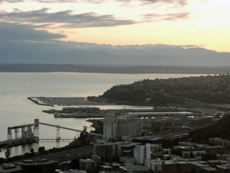 A View from the Space Needle by Evianthice