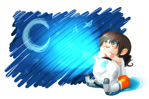 Wheatley and Chell by MachoPie