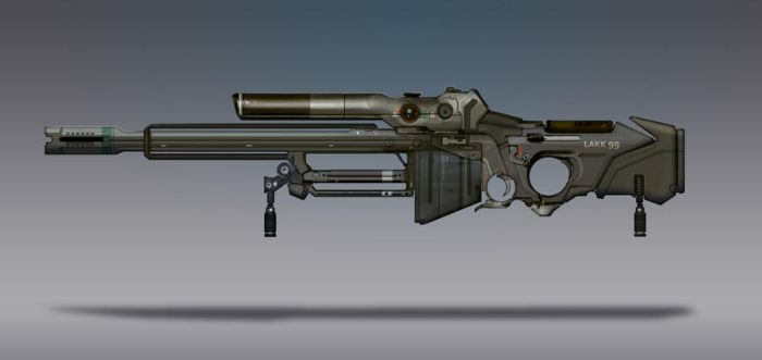 Commission Concept Art - Sniper Rifle by torvenius