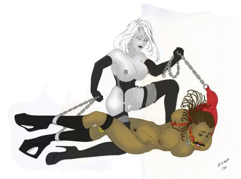 Mistress with Captured Nubian by snap666999