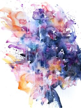 in a single moment all her greatness collapsed by agnes-cecile