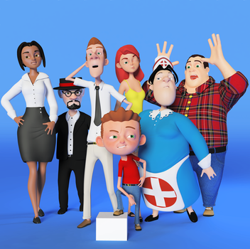 New toon family I made for work by The-3DArtist