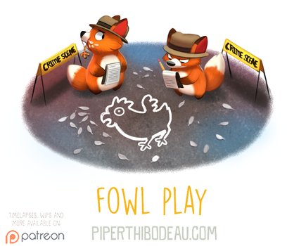 Daily Paint 1605. Fowl Play by Cryptid-Creations