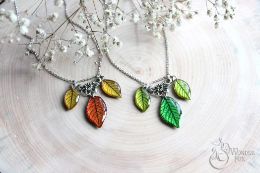 Leaf Necklace by Wonder-fox
