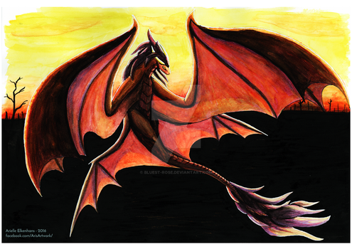 Dragon over Cinders by Bluest-Rose