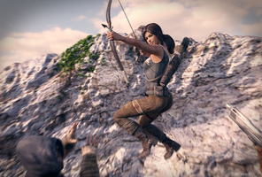 Lara Croft : Jump'n shoot by BMFreed