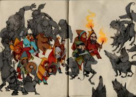goblins and dwarves by faQy