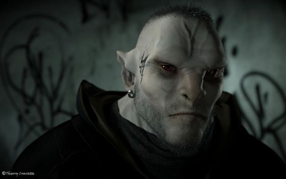 Bad Guy (Portrait of a modern Orc) by ThierryCravatte