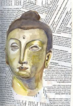 Head of The Buddah- Revisited by amyria