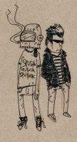 free sketch ROCK N ROLL PEEPS by MANeatingCLOTHES
