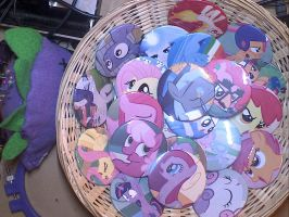 Basket of Poni Pins by sparklepeep