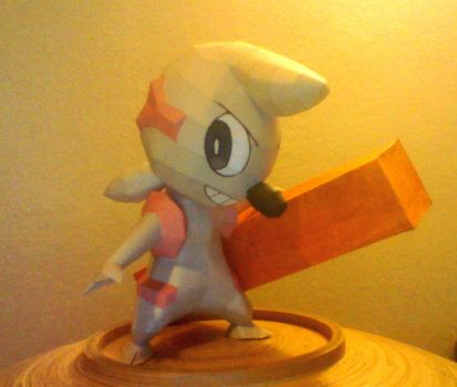 Timburr papercraft by LordBruco