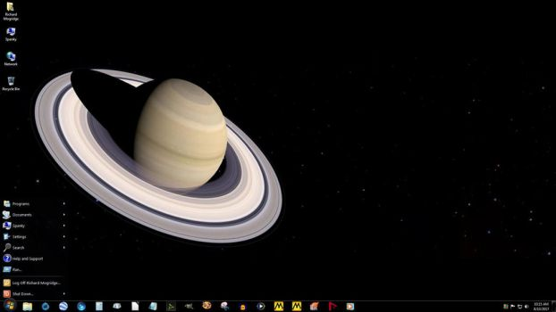 Windows 7 on Spanky - Hanging Out Near Saturn by slowdog294