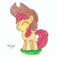 Apple Bloom in a Hat by UlyssesGrant