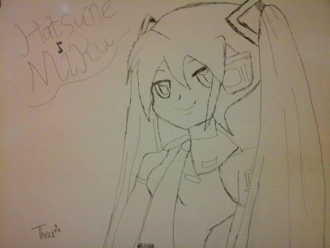White board Miku by NIGHTSandTAILSFAN