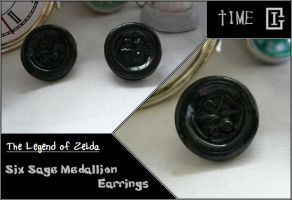 Zelda Medallion Earring Time by Riomy