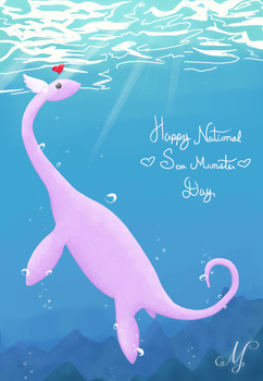 Happy Sea Monster Day by SunsetSovereign