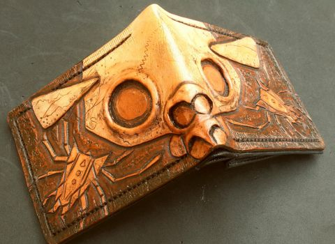 Gold Skulltula Lost Woods, Leather Wallet by Bubblypies