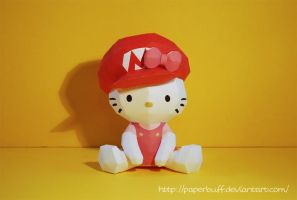 Hello Kitty, Mario Papercraft by PaperBuff