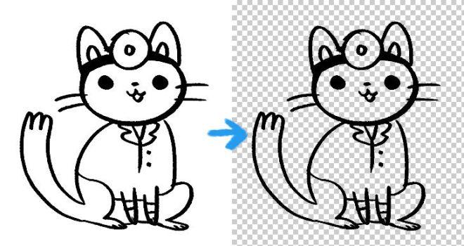 photoshop action for lineart by dalia