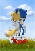 Sonic and Tails by Akusuru