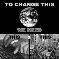 WHAT IS NEEDED TO CHANGE OUR WORLD by OpGraffiti