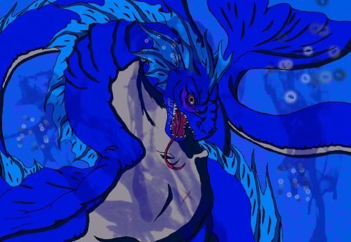 Sea Serpent Coloured by shadow-wolf04