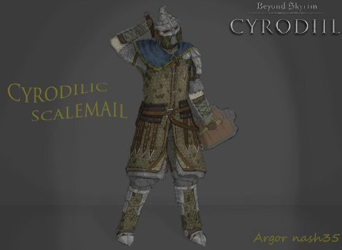 Cyrodilic Scalemail Armor Concept by Argornash35