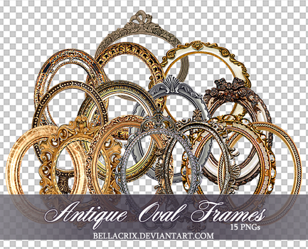 Antique Oval Frames PNGs by Bellacrix