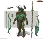 Total War: Warhammer Concept Art - Orion by telthona