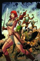 Red Sonja 51 cover by wgpencil