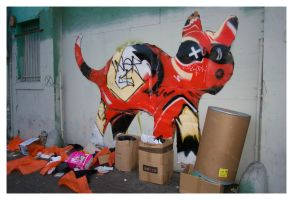 Urban Cardboard Cat by makepictures
