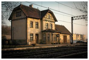 A small railway station by KKokosz