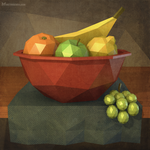 Low-poly still life by m7