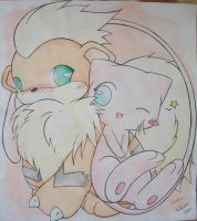 Mew and Growlithe
