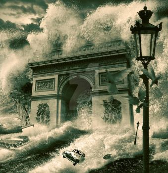 Tsunami over Paris by phantastes