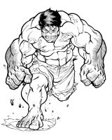 Hulk by will liddle by chasingartwork on deviantart for Incredible hulk face template