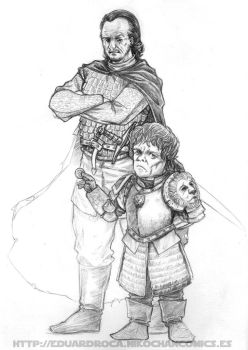 Tyrion Lannister y Bronn by Ude2d2