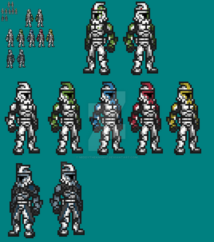 Phase 1 clone troopers sprited! by Zerorunner67