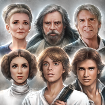 Star Wars: Past and Present Portraits by daekazu