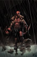 Hellboy in the Rain by matlopes