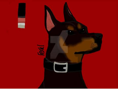 Doberman (I think) by Feralsoul804