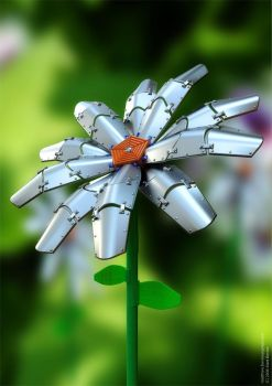 Mechanical Flower by coolscene