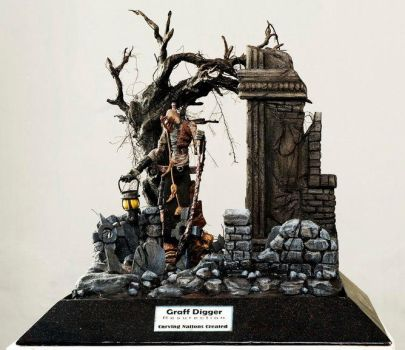 Diorama grave digger by carvingnations