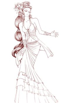 costume design: titania by baxxx