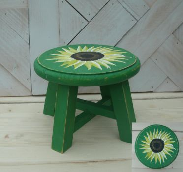My second Sunflower Stool by sweetpie2