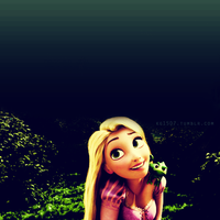 Rapunzel and Pascal by kg1507