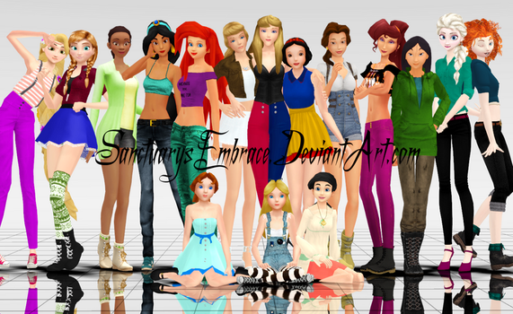 {MMD Download} Modern Disney Girls [BIG Pack] by MariCorsair