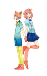 Two Cuties With A Side Order Of Precious ::AT:: by GEEASAURUS