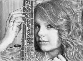 Pencildrawing of Taylor Swift by Valyanna8361